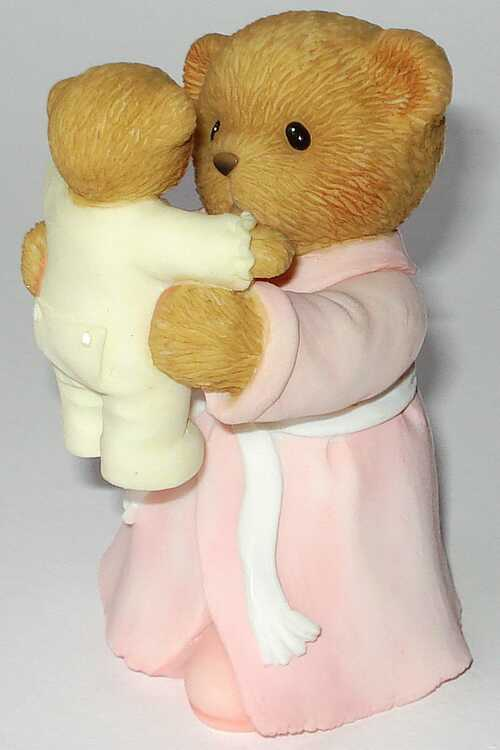 Cherished Teddies MOTHER WITH BABY IN AIR FIGUR - CARLTON CARDS -