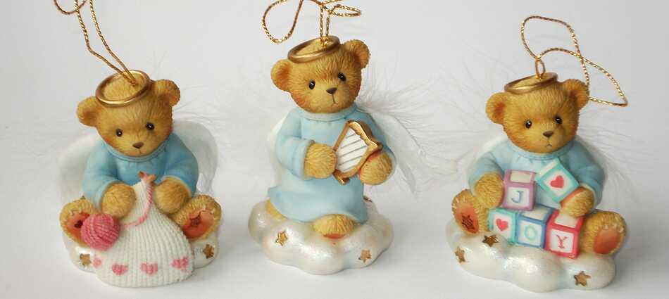 Cherished Teddies BRADFORD EDITIONS 3er Set ANGELS ON A CLOUD -