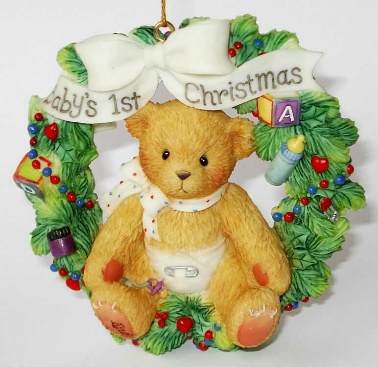 Cherished Teddies BABY'S 1ST CHRISTMAS -