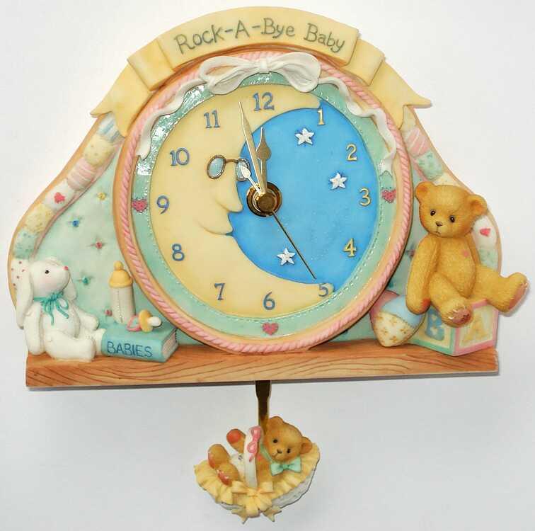 Cherished Teddies BABY CLOCK -