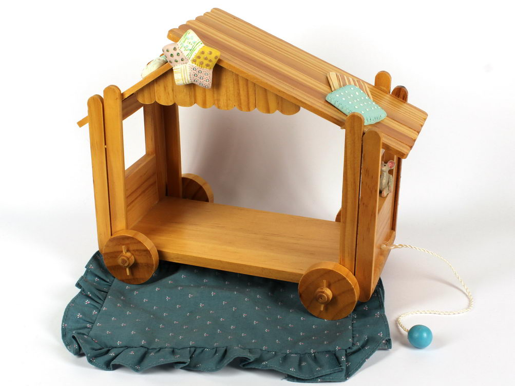 Cherished Teddies / Calico Kittens WOODEN NATIVITYV CRECHE - USA Exclusive -