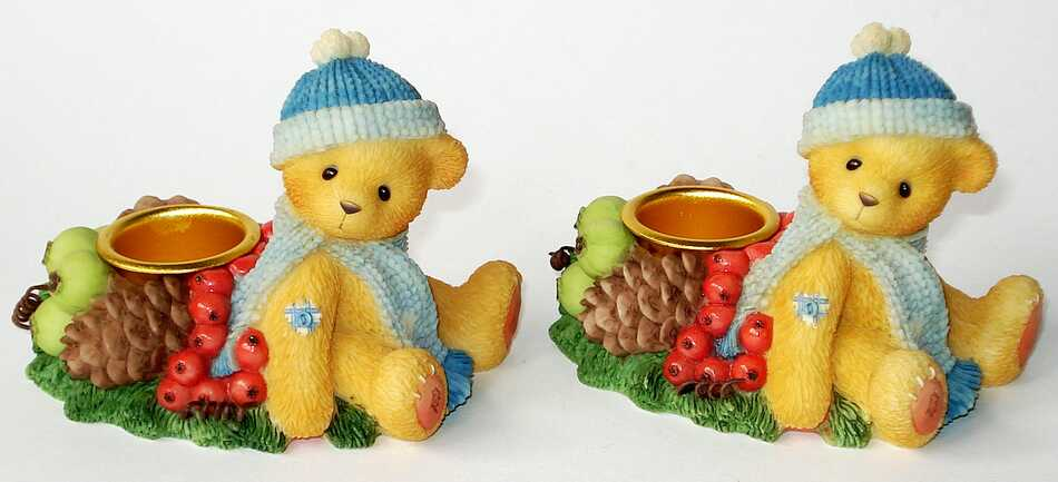 Cherished Teddies BEAR SITTING CANDLEHOLDER -