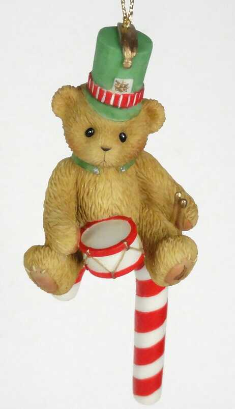 Cherished Teddies 2005 Candy Cane Ornament - CARLTON CARDS -