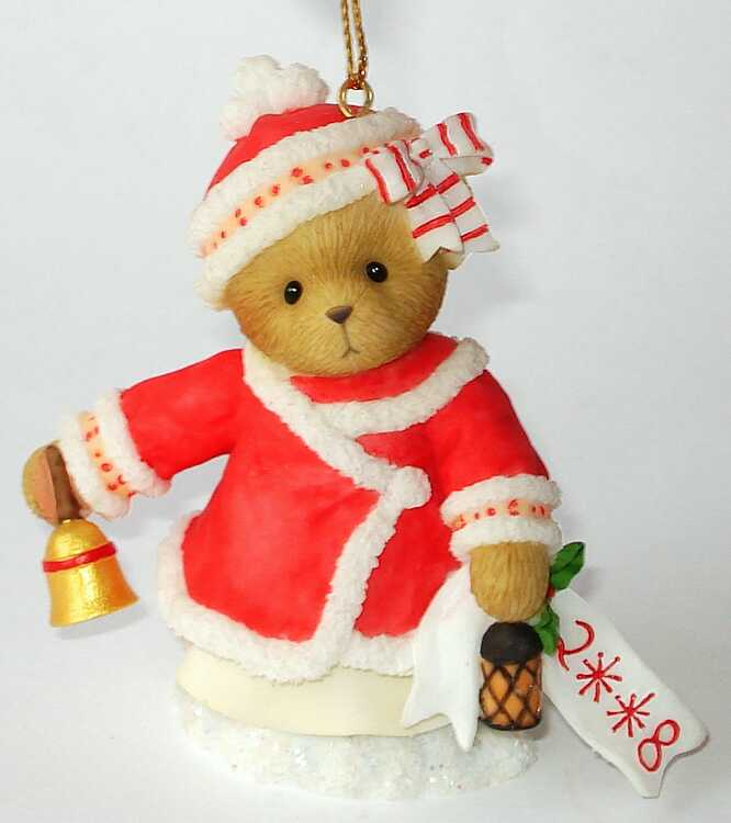Cherished Teddies 2008 Dated Ornament Abbey Press -