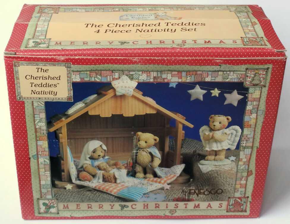 Cherished Teddies 5 piece set of Nativity -