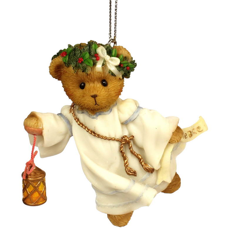 Cherished Teddies ANGEL OF PEACE HANGING ORNAMENT -