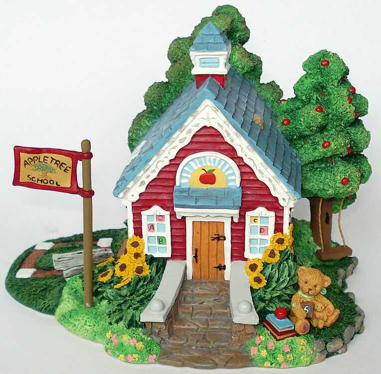 Cherished Teddies APPLE TREE SCHOOL HOUSE  - Hamilton -