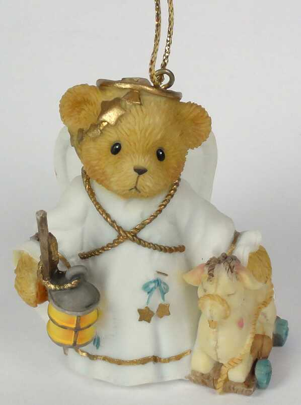 Cherished Teddies Angel with Camel  -  Carlton Cards Exclusive -