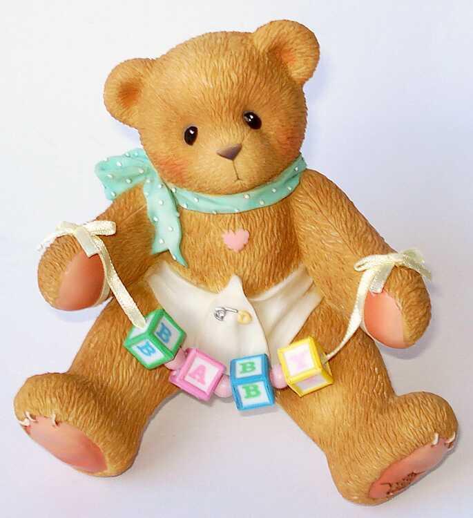 Cherished Teddies Baby Bear with Blocks Shelf Sitter -