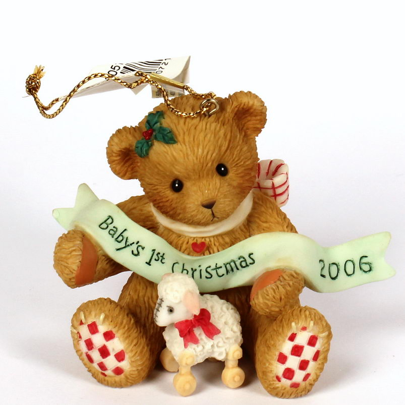 Cherished Teddies Baby's First Christmas 2006 Ornament -