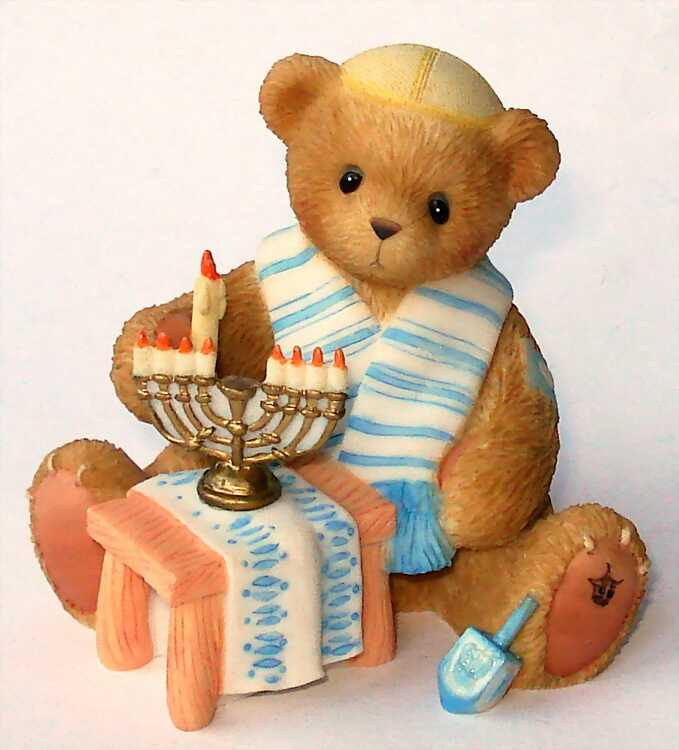 Cherished Teddies Bear With Menorah -
