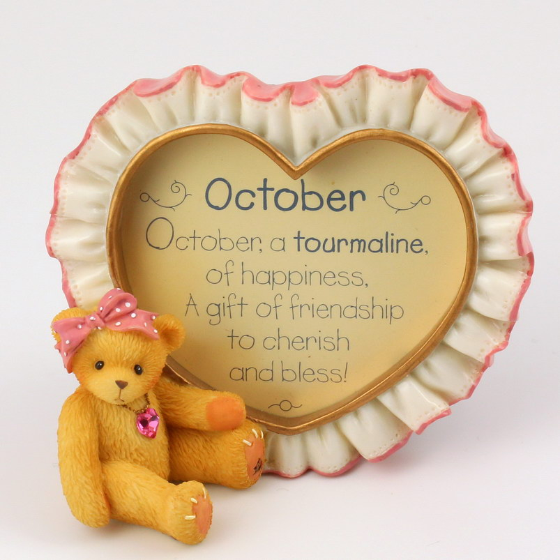 Cherished Teddies Birthstone October Photoframe -