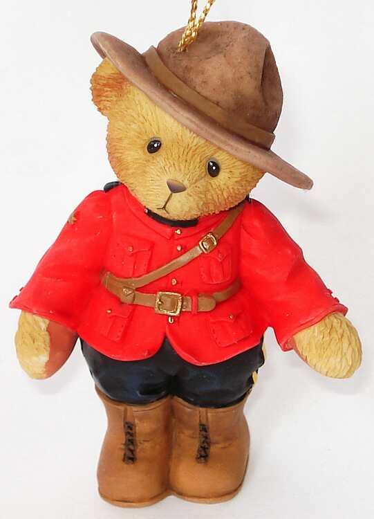 Cherished Teddies CANADIAN MOUNTIE Hanging Ornament  - Canadian Exclusive -