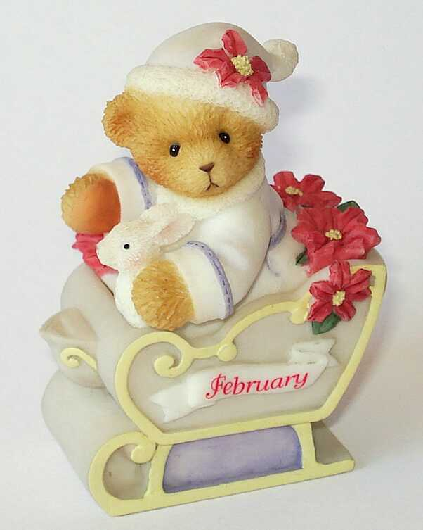 Cherished Teddies CHERISHED TEDDIES FEBUARY TRINKET BOX -