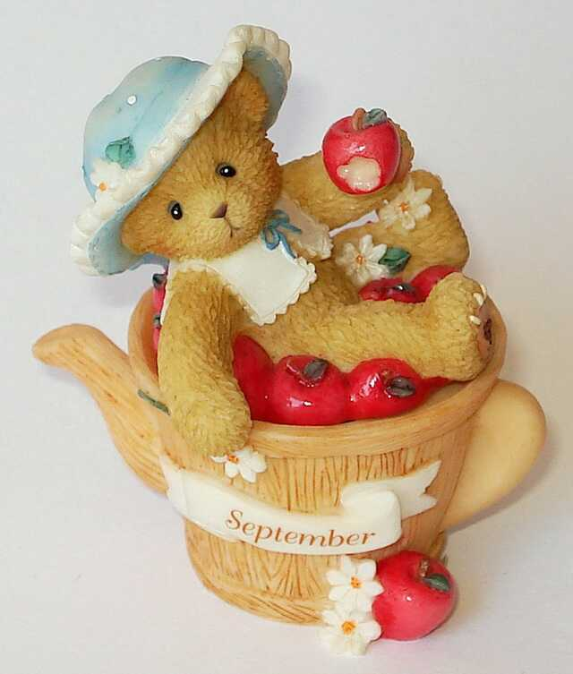 Cherished Teddies CHERISHED TEDDIES SEPTEMBER TRINKET BOX -