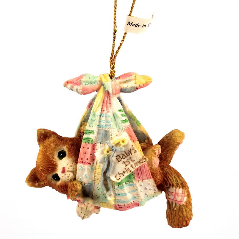 Cherished Teddies Calico Kittens  -  Baby Boy's First Christmas -