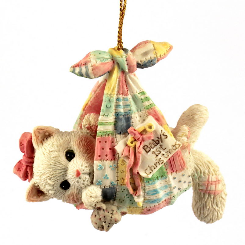 Cherished Teddies Calico Kittens  -  Baby Girl's First Christmas -