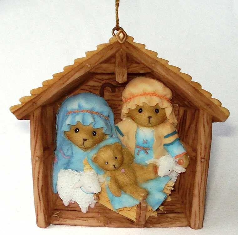 Cherished Teddies Cherished Teddies 2009 Nativity/Stable Ornament -
