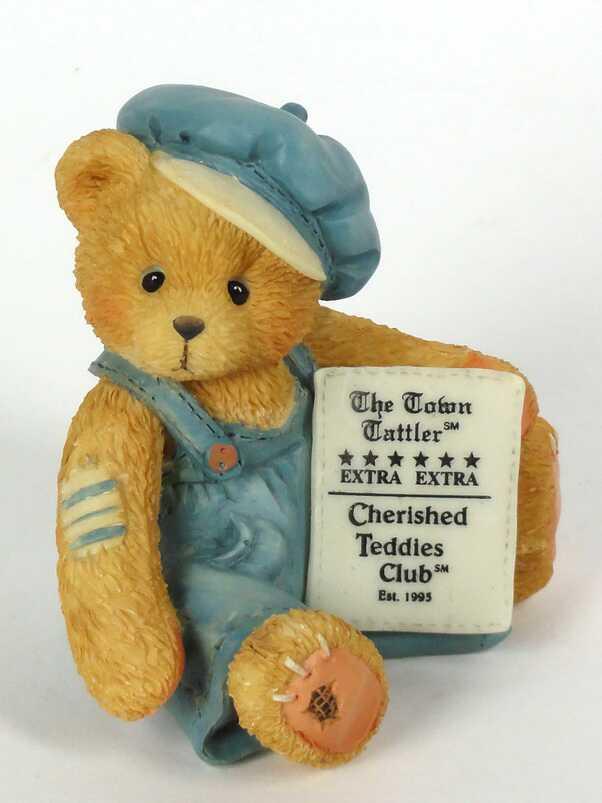 Cherished Teddies Cub E. Bear - Handsigniert von Priscilla Hillman -