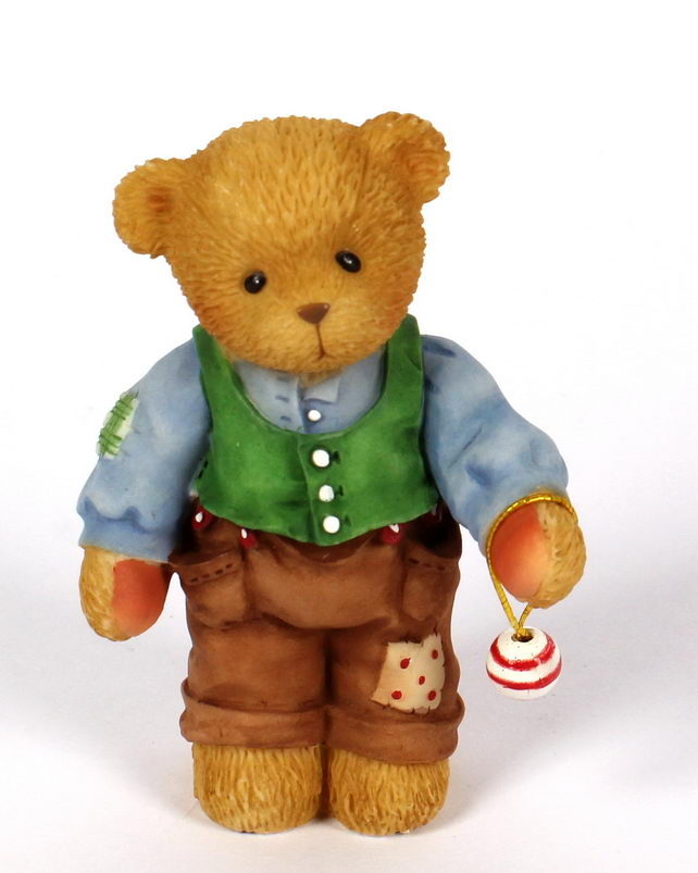 Cherished Teddies Dad With Hanging Ornament -