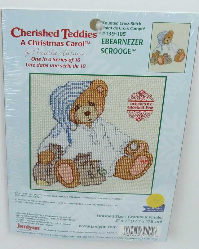 Cherished Teddies EBEARNEZER SCROOGE Komplettes Stickset -