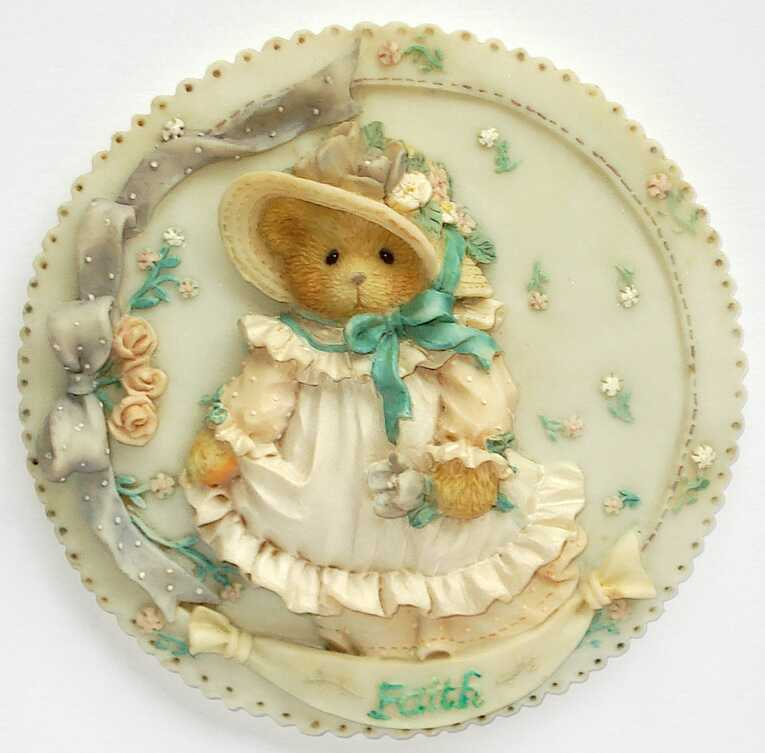 Cherished Teddies FAITH  - Wall Plaque -
