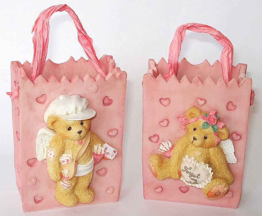 Cherished Teddies GIRL CUPIDTREAT BAG and BOY CUPIDTREAT BAG -