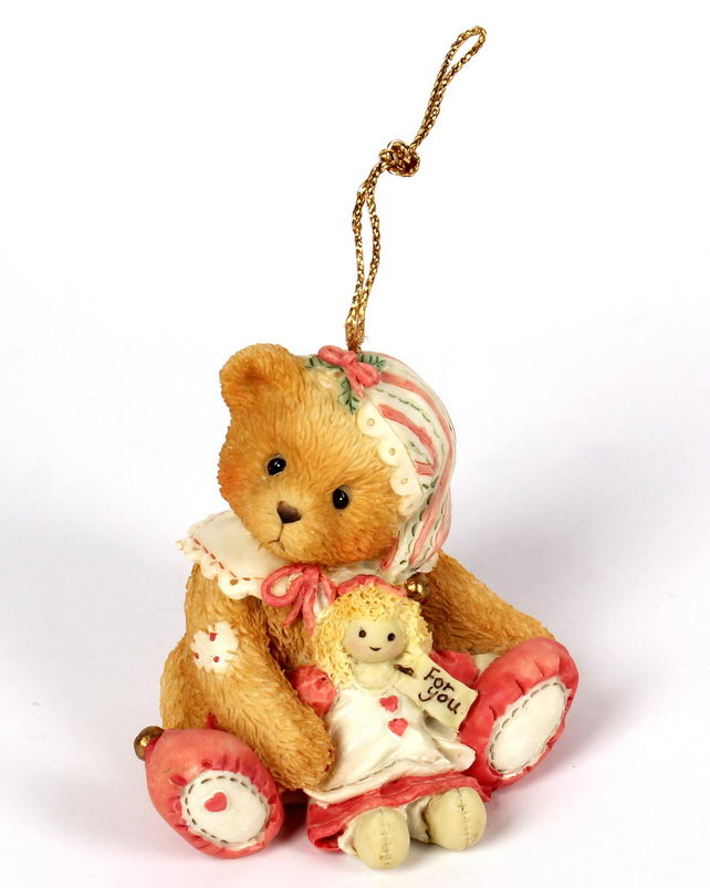 Cherished Teddies Girl Elf With Doll -