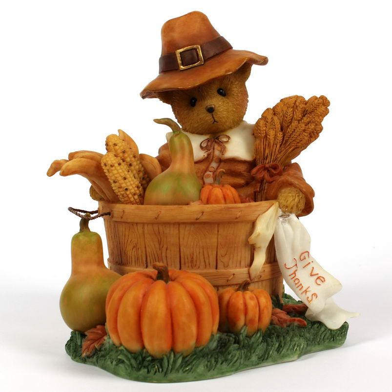Cherished Teddies HERBERT - 2011 U.S.A Thanksgiving Exclusive -