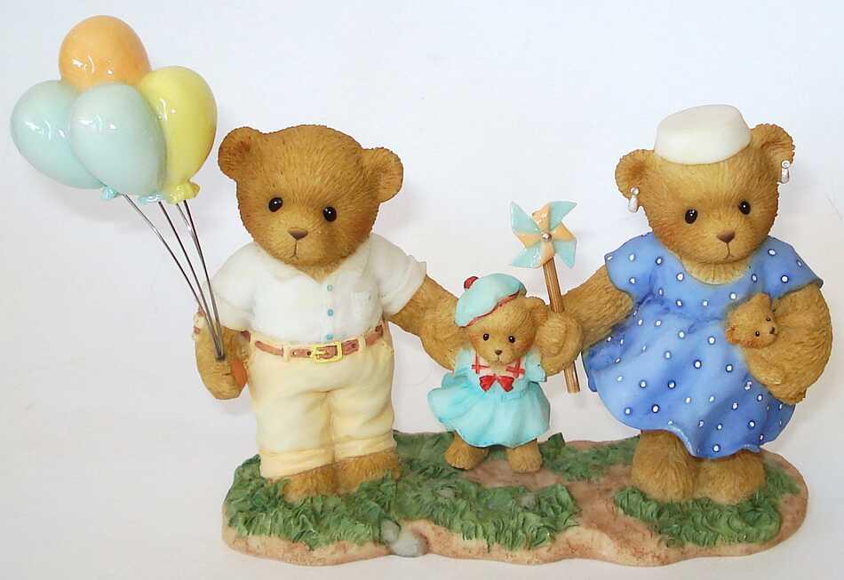 Cherished Teddies JOHN, EMILY and KATIE -