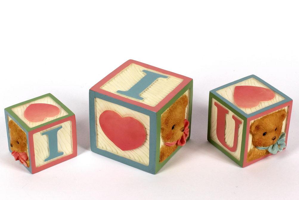 Cherished Teddies LOVE LETTER BABY BLOCKS -