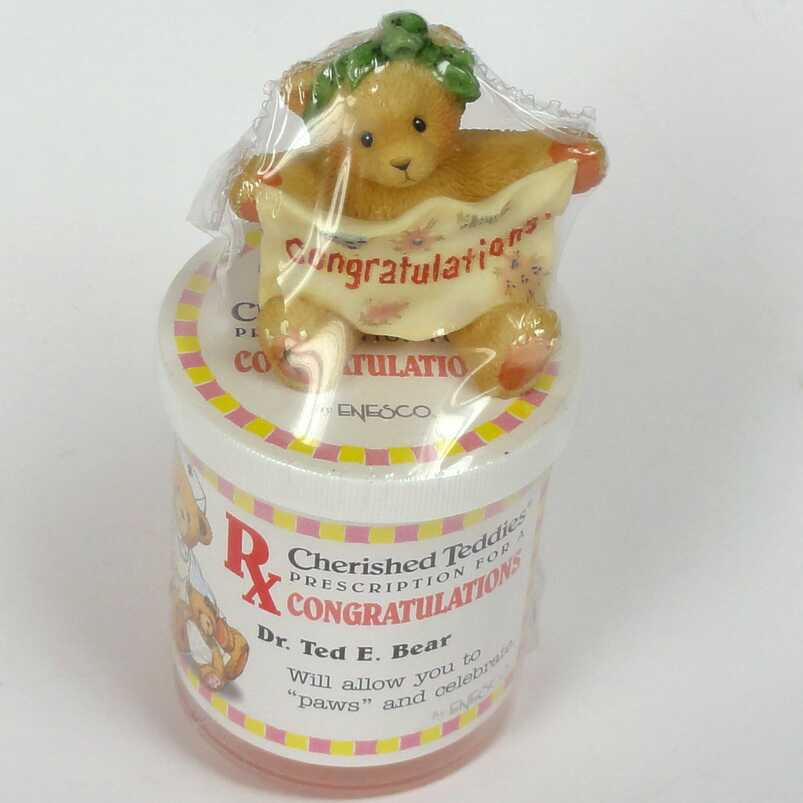 Cherished Teddies Mini Teddie CONGRATULATION und Dr. Ted E. Bear Dose -
