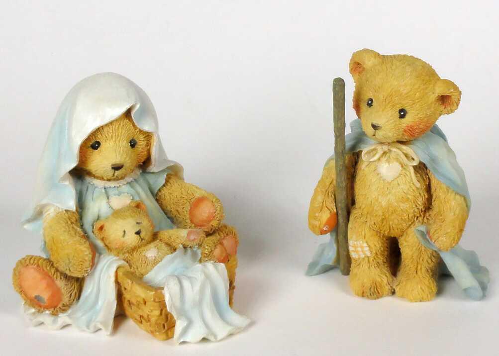 Cherished Teddies Nativity Josh, Maria & Baby -