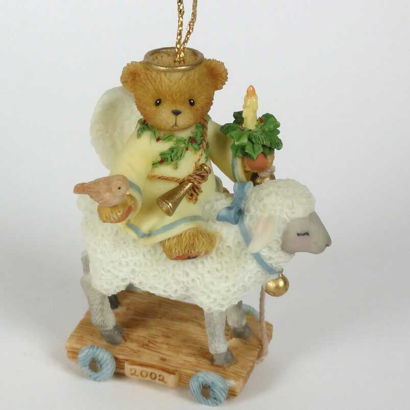 Cherished Teddies Ornament Angel with Lamb  -  USA Exclusive -