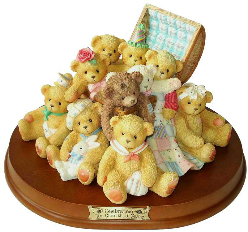 Cherished Teddies ROSE, MELINDA, JACKI, CHRISTOPHER and FRIENDS -