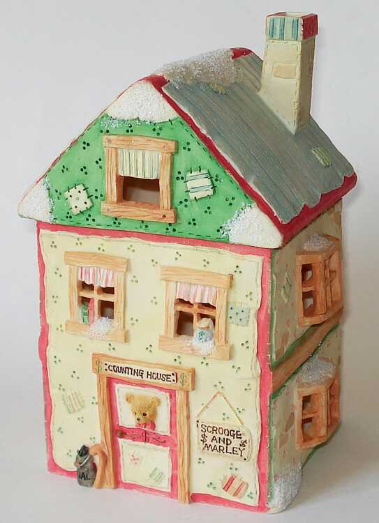Cherished Teddies SCROOGE & MARLEY'S OFFICE NIGHT LIGHT HOUSE -