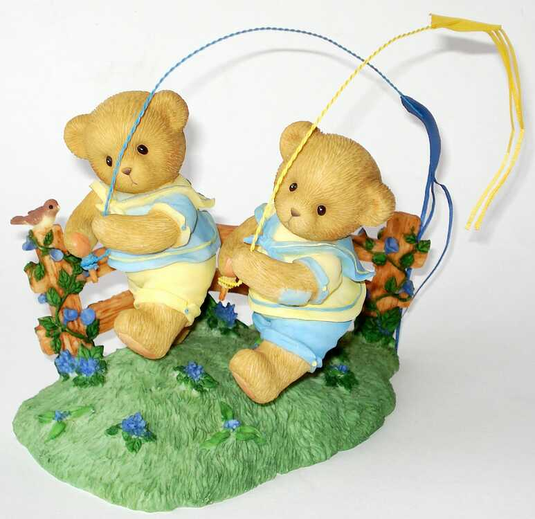 Cherished Teddies SHANE and SEAN - Signiert von Glenn Hillman -
