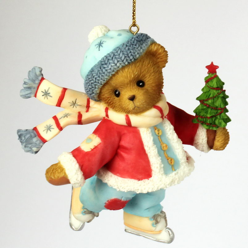 Cherished Teddies SKATING BEAR ORNAMENT -
