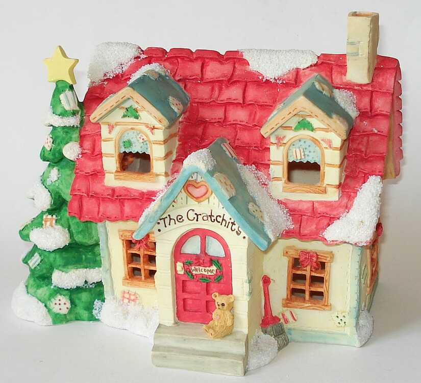 Cherished Teddies THE CRATCHIT'S NIGHT LIGHT House -