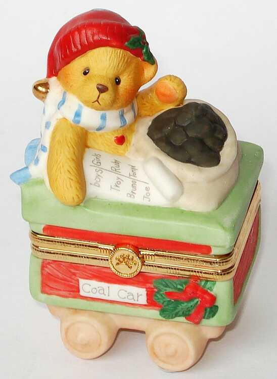 Cherished Teddies TRAIN COAL CAR -