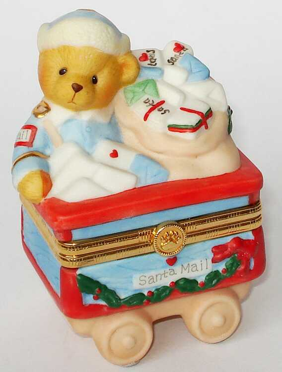 Cherished Teddies TRAIN MAIL CAR -