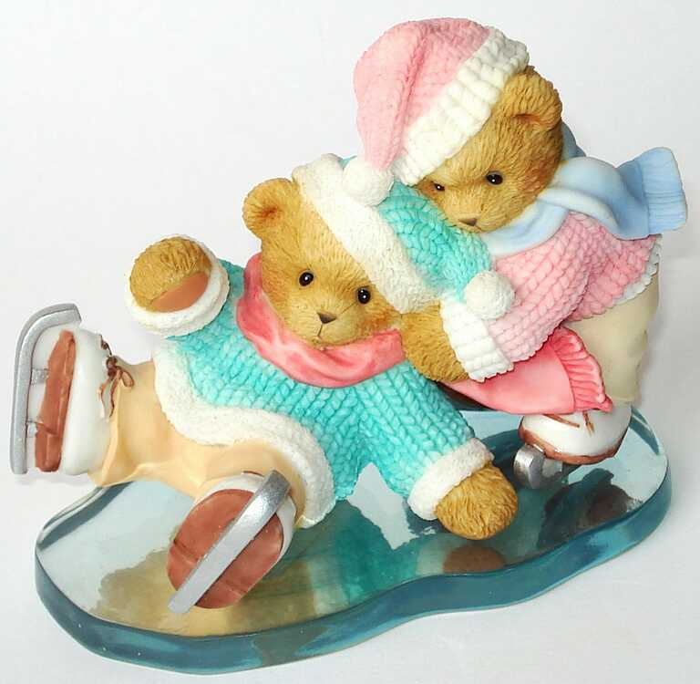Cherished Teddies TRAYTON and GABRIELLA -  Carlton Cards Exclusive -