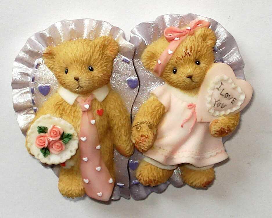 Cherished Teddies Valentine Magnets -