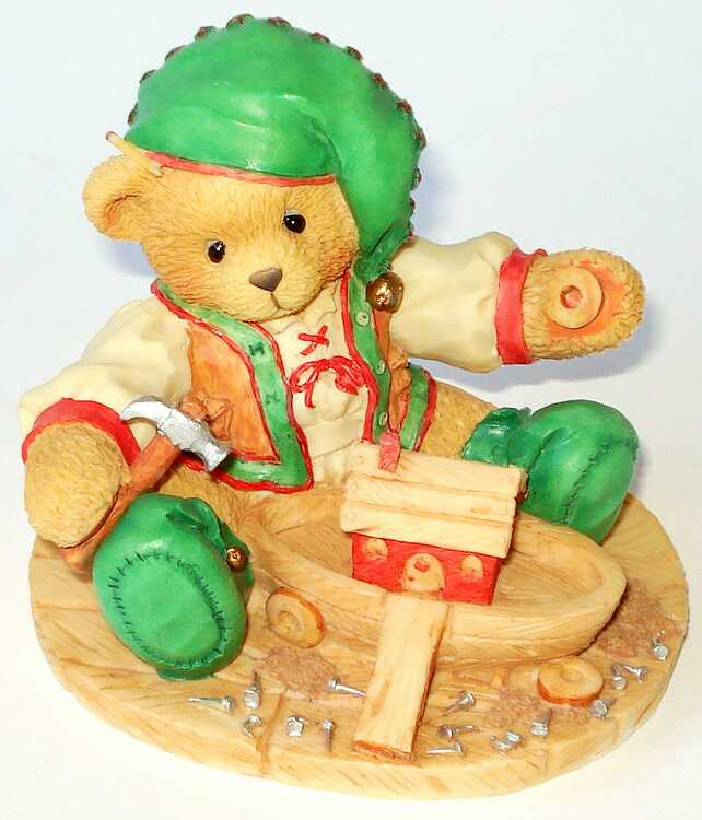 Cherished Teddies YULE    Santa's Workshop -