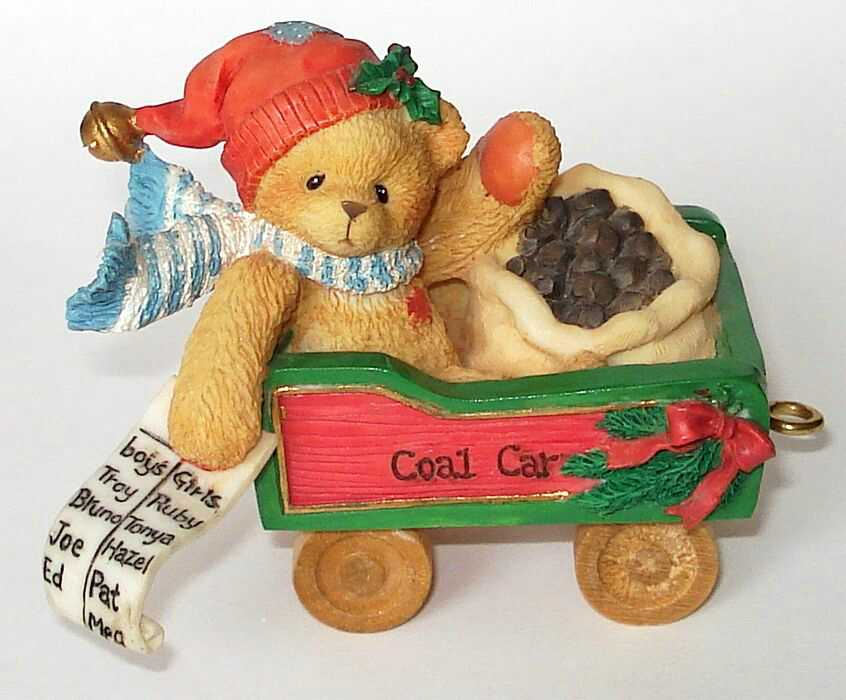 Cherished Teddies COLIN   SANTA EXPRESS TRAIN -