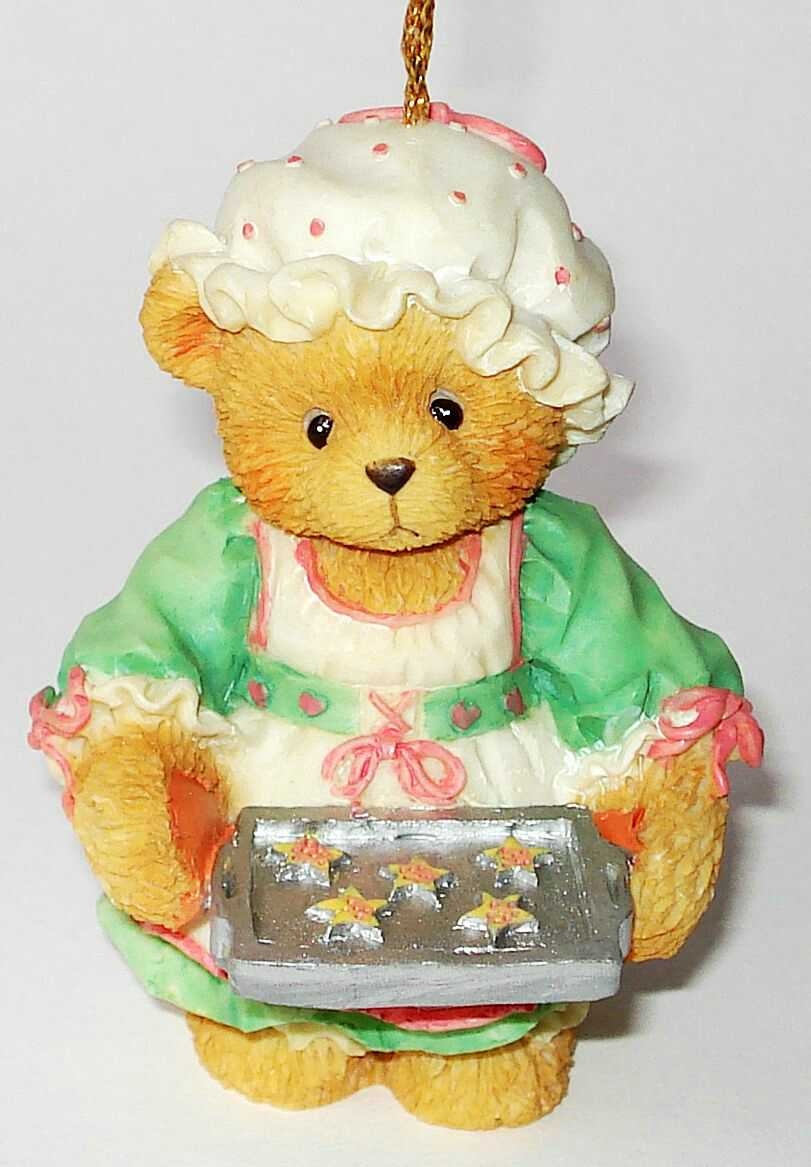 Cherished Teddies GIRL HOLDING TRAY OF COOKIES -