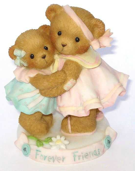 Cherished Teddies THE LOVE OF A FRIEND IS FOREVER - CARLTON CARDS -