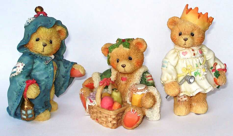 Cherished Teddies GLORIA, GARLAND and GABRIEL 3er Set -
