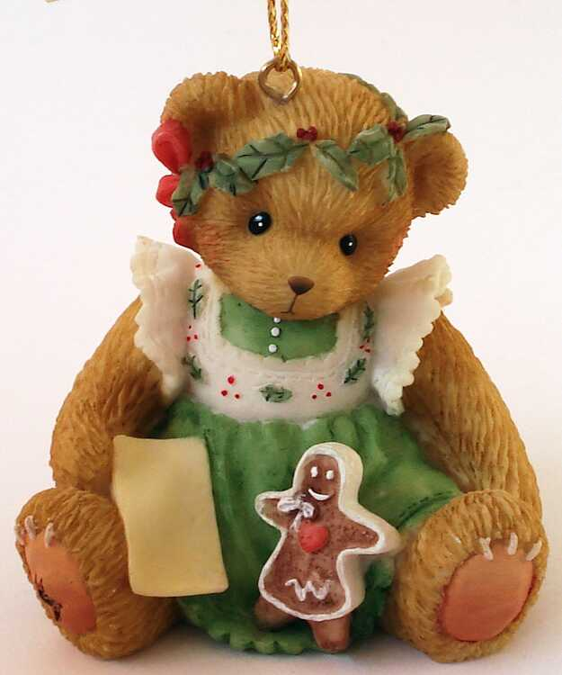 Cherished Teddies BEARY CHRISTMAS TO ONE SWEET COOKIE! - Abbey Press -
