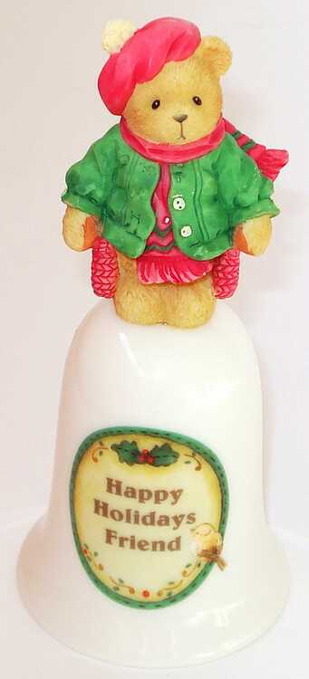 Cherished Teddies HOLIDAY COLLECTIBLE BELL -